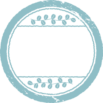 Stamp material Blue