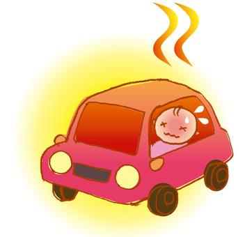 Heat stroke in the car