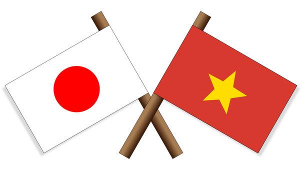 Flag Japan × Vietnam