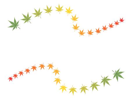 Momiji decorative ruling to make autumn leaves