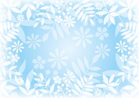 Light blue leaf background