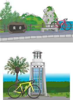 Scenery set 3 with bicycle