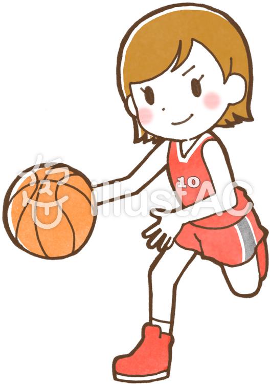 バスケットボール女子イラスト No 548355無料イラストなら