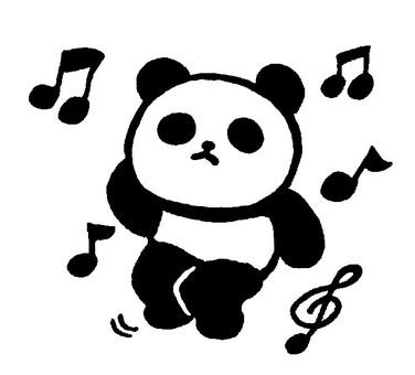 音樂熊貓3(單色)