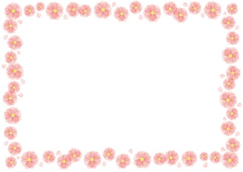 桃の花のフレーム