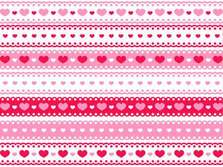 Heart pattern lace line