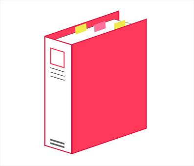 Binder file red
