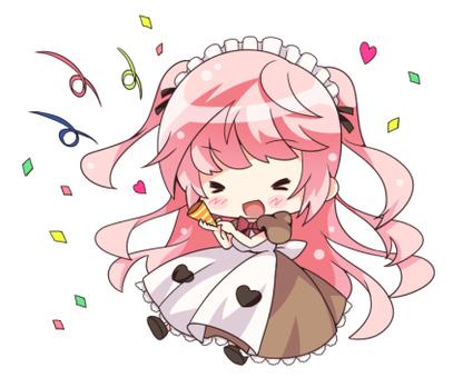 Pink hair maid (cracker)