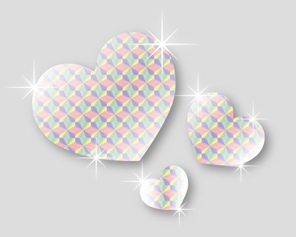 Glittering hearts (holo) in the decoration of seasonal events