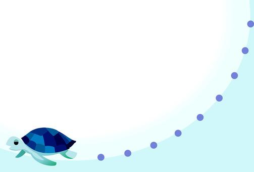 바다 거북 프레임 엽서 크기