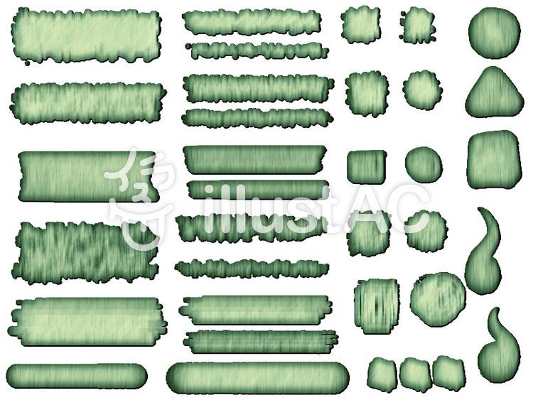 ボタンセット木目風4のイラスト