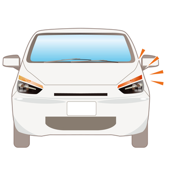 Illustration of a car that is emitting a turn signal