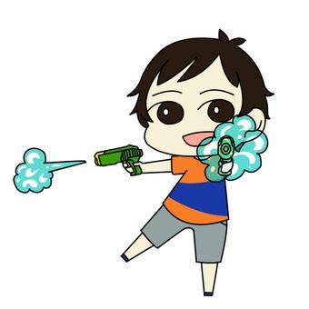 물총 놀이 소년 01