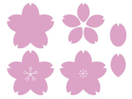 桃子櫻花花瓣