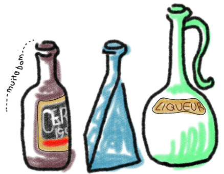 A small bottle (pastel style)