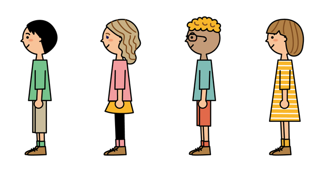 Children in a line_spaced
