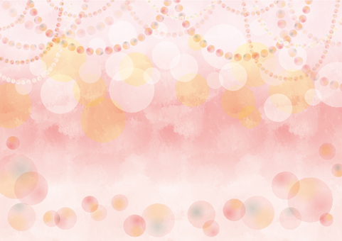 Full circle party background pink horizontal