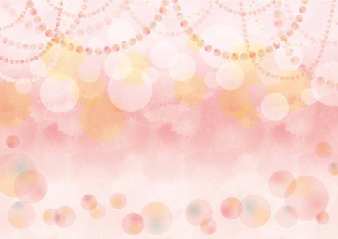 Round party background pink sideways
