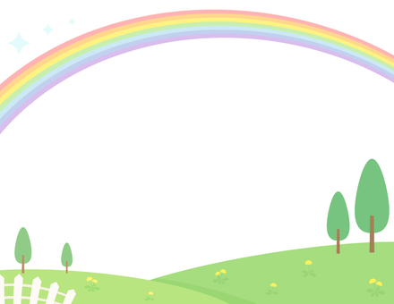 場和彩虹框架