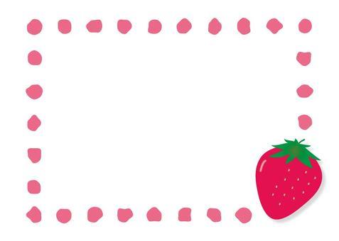 Strawberry frame (transparent background)