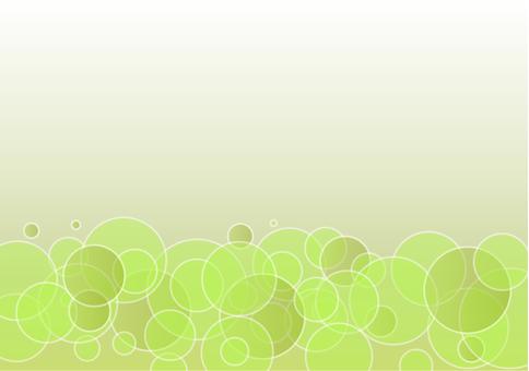 Fresh green bubble