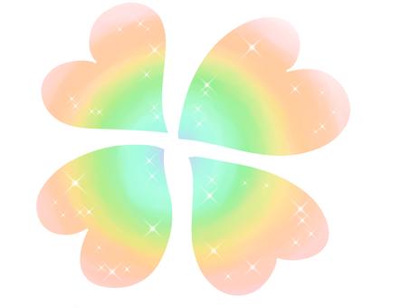 Rainbow-colored clover