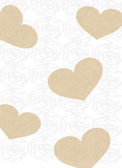 Chic background of rose design in hearts Wallpaper