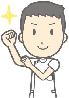 Male nurse - armband - bust