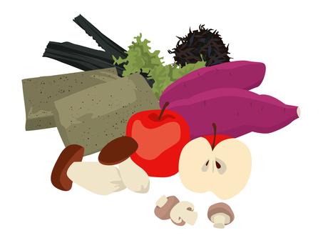 Food fiber-rich ingredients