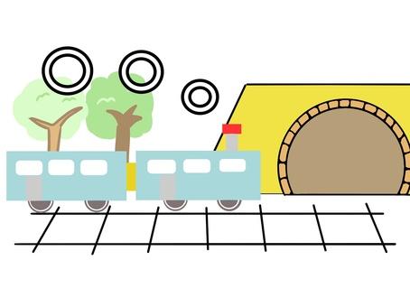 電車とトンネル