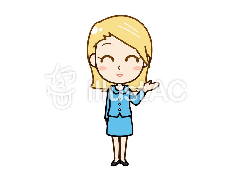 外国人女性全身手をあげるイラスト No 421964無料イラストなら