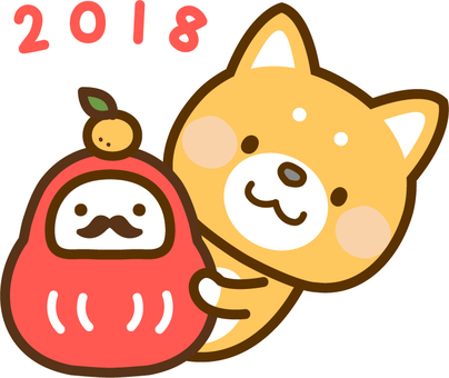 2018 New Year's card one point _ Dog and Dharma