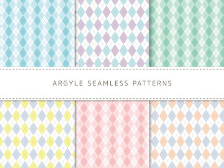 Argyle pattern set
