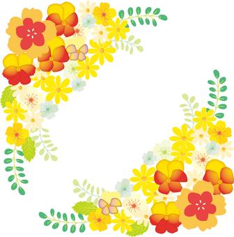 꽃 프레임 옐로우