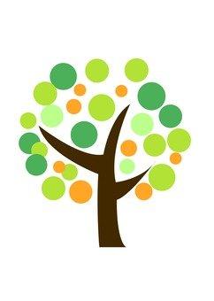 Modern tree 3 (green)