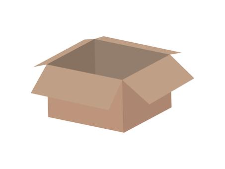Illustration of a cardboard box