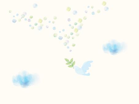 平和の鳩_水彩風