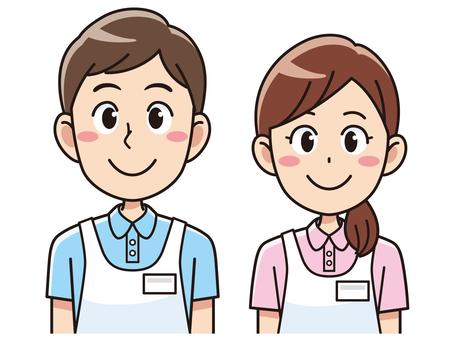 護理人員的男人和女人