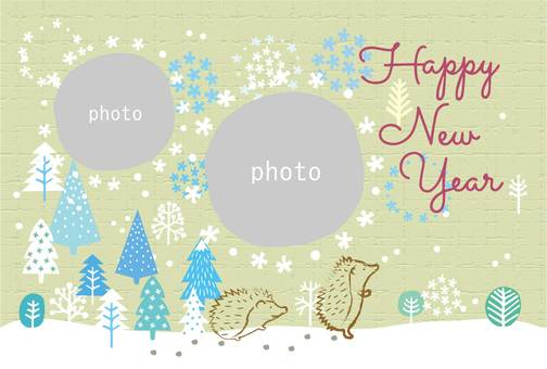 New Year's card_child frame 07