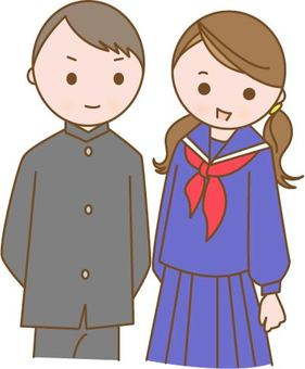 Sailor uniform and school run