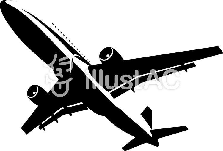 飛行機 シルエットイラスト No 841149無料イラストならイラストac