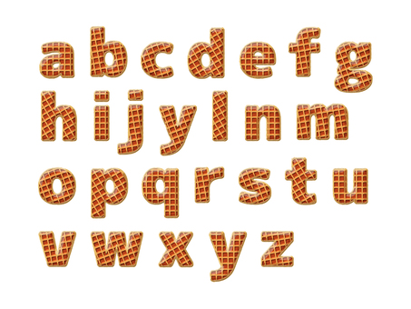 Waffle style letters - Western letters - lower case letters