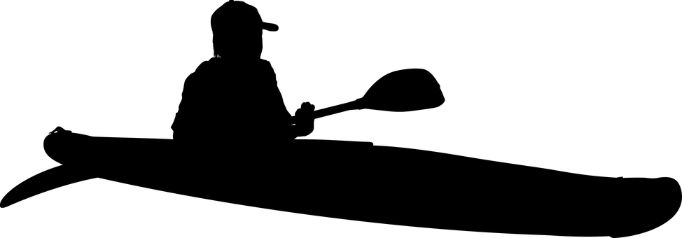 Canoe kayak silhouette