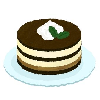 Tiramisu Hall cake with fresh cream