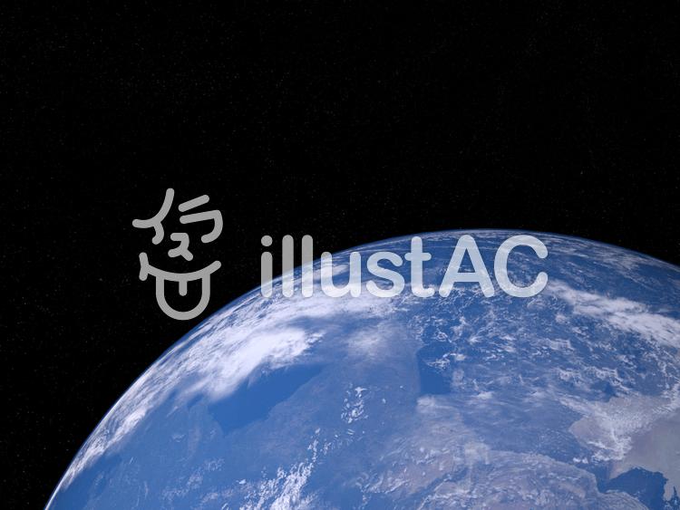 青い地球と大陸のイラスト