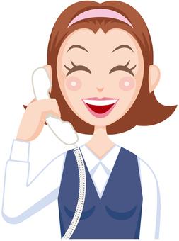 Telephone reception Telephone operator