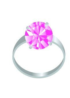 彩石鉑金戒指