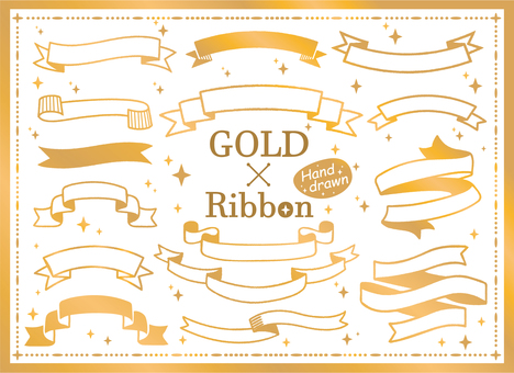 Gold ribbon frame set