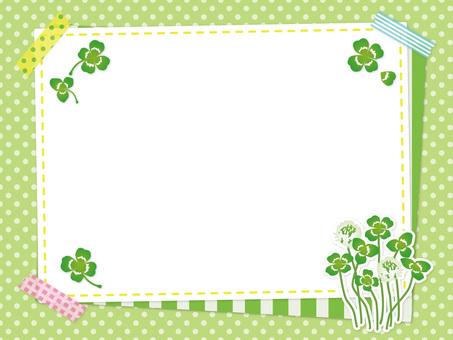 Spring clover and white clover frame 04
