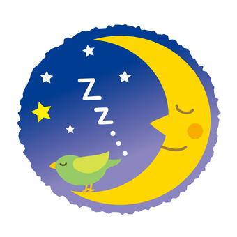 달과 작은 새